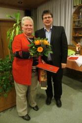 Heidi Lorenz für 40 jährige Treue geehrt.